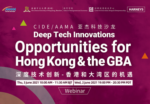 Lecture Review - CIDE/AAMA Technology Salon: Deep Tech Innovations - Opportunities for Hong Kong and the GBA